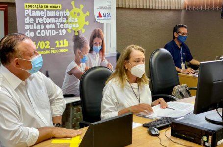 Presidida por Fabíola, comissão da ALBa aborda caminhos possíveis para retorno presencial das aulas